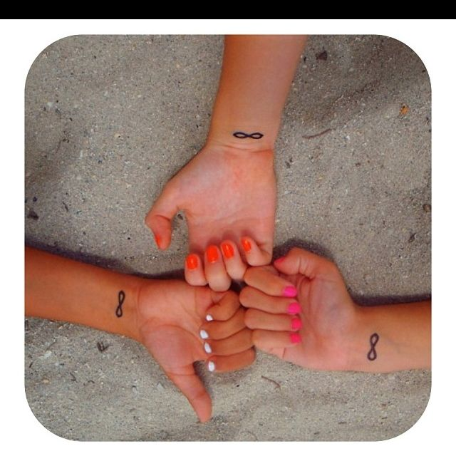 Matching infinity tattoos- @Brooke Nischwitz for us okay? :)