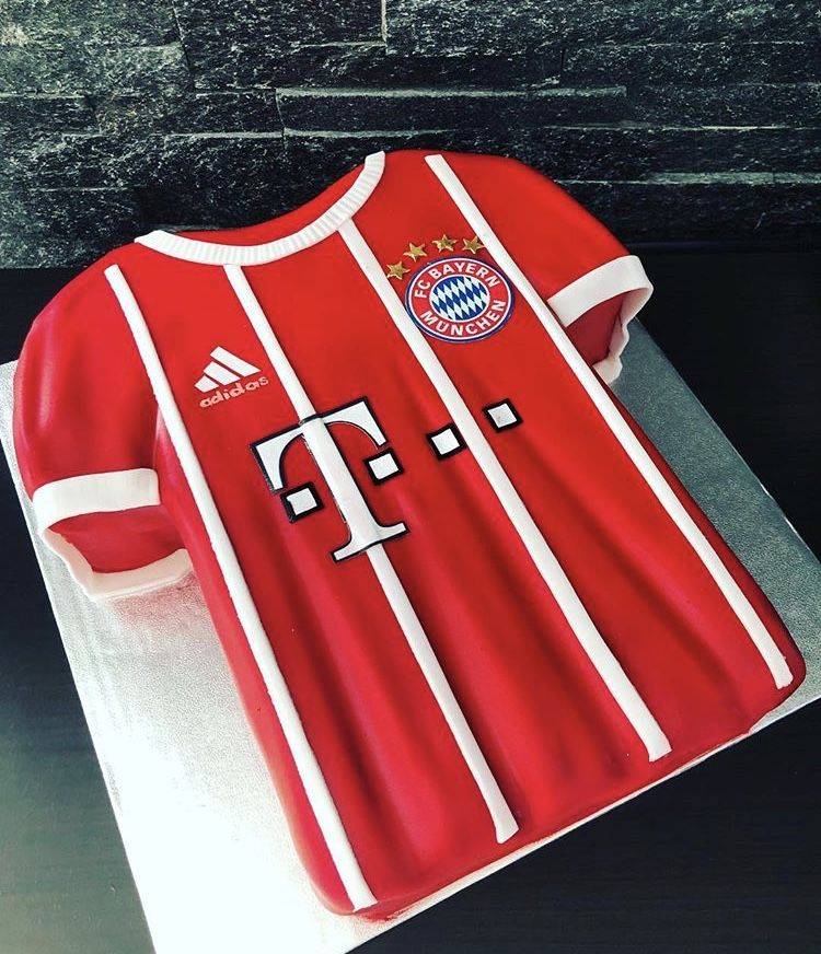 Bayern Trikot Torte Fuball Torte  Kindergeburtstags