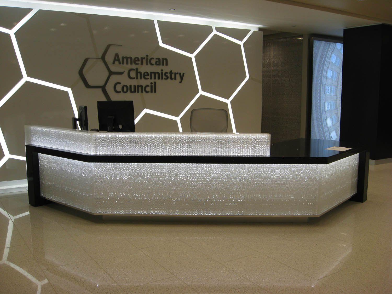 Creative Reception Counter Design Wallpaper | Furniture Collection ...