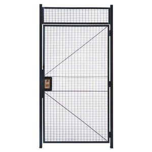 Wirecrafters Hd478rw Rapidwire Welded Steel Wire Mesh Hinged Door With 1 High Transom Panel And 2 Door Posts 4 Width X 7 3 1 4 He Wire Mesh Hinges Paneling