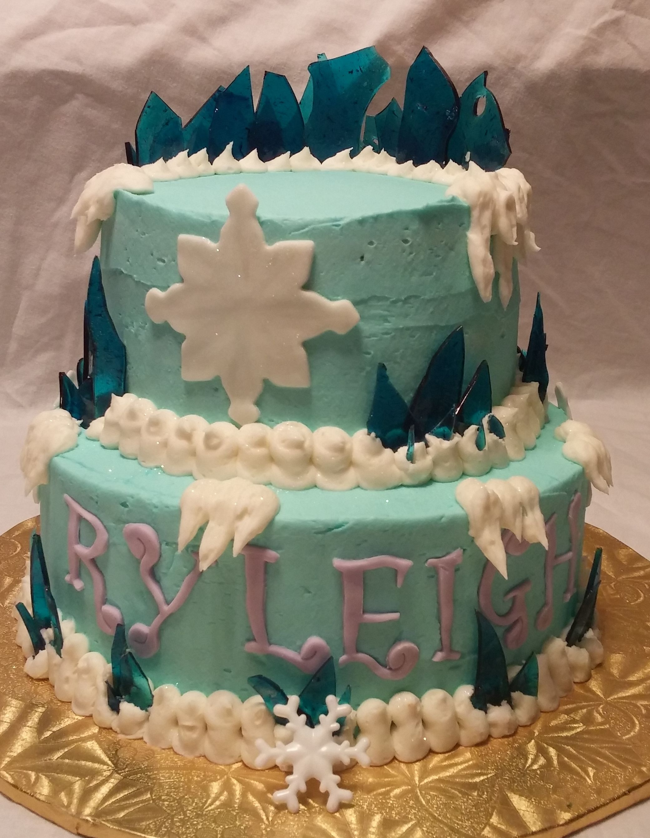 Disney Frozen Cake ready for toy toppers Sweet Lisas Cakes