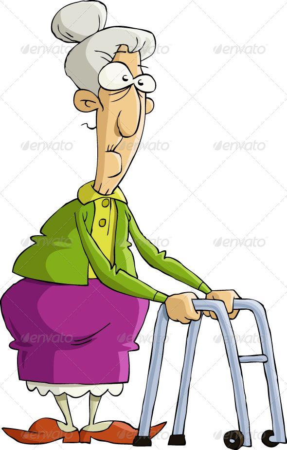 Old Woman Old Women People Illustration Cartoon People