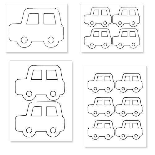 photograph regarding Printable Pictures of Cars titled Printable Auto Styles - Printable Snacks Birthday