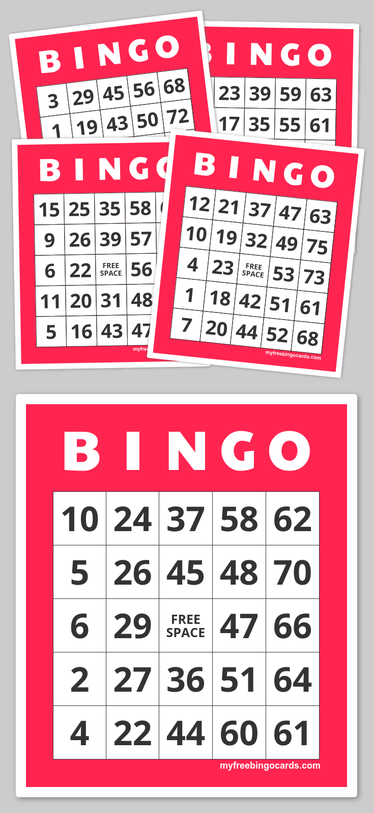 Free Printable Bingo Cards | Tablero y Etiquetas
