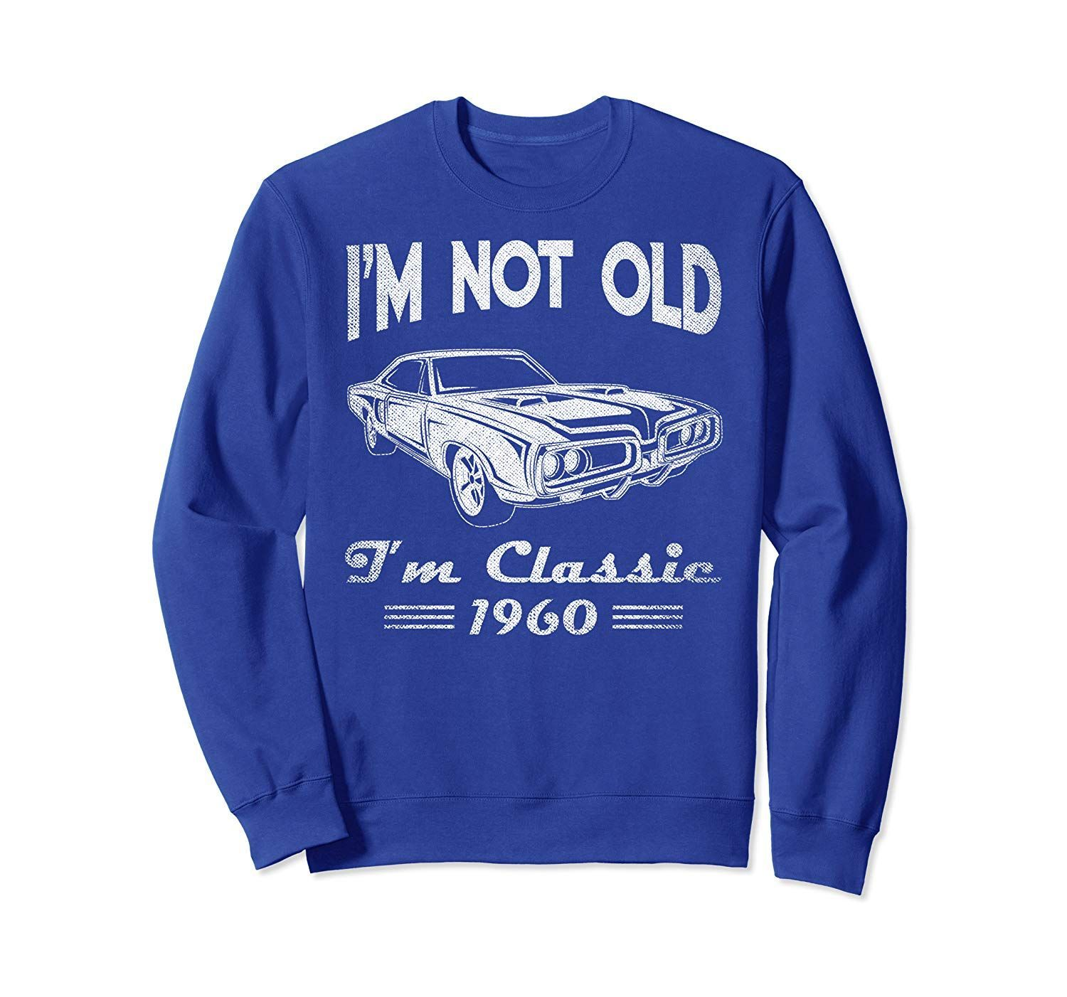 60th Birthday T Shirts For Men – Classic Car 1960 Sweatshirt