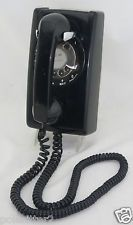 Vintage Bell System Western Electric Black Rotary Wall Hanging Telephone OLD