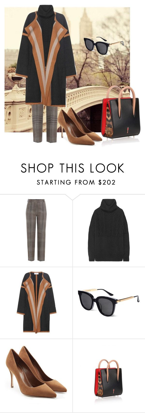 """""""romance"""" by aries-ariessw-sw on Polyvore featuring 3.1 Phillip Lim, The Row, Chloé, Gentle Monster, Sergio Rossi and Christian Louboutin"""