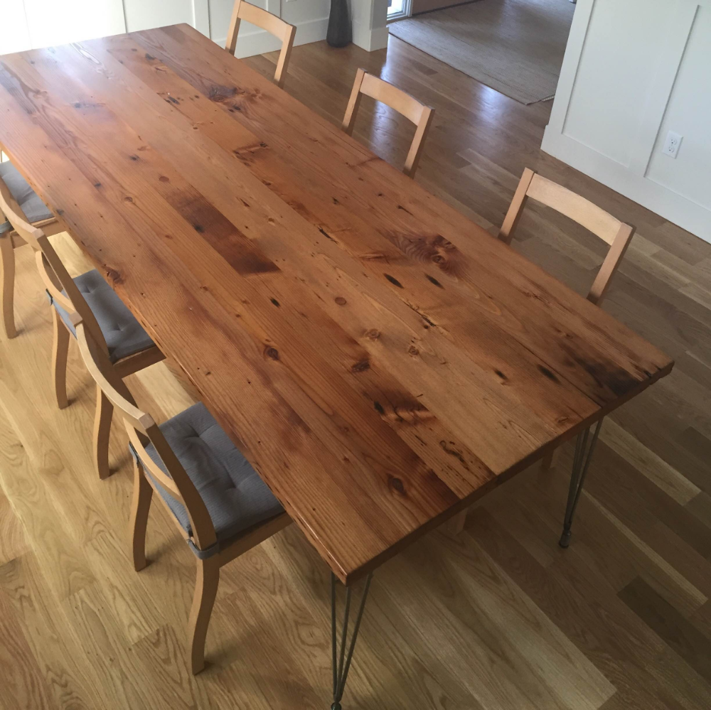 Burnside Reclaimed Douglas Fir Dining Table Stumptown Reclaimed Custom Tables Portland Or Dining Table Reclaimed Wood Dining Table Dining