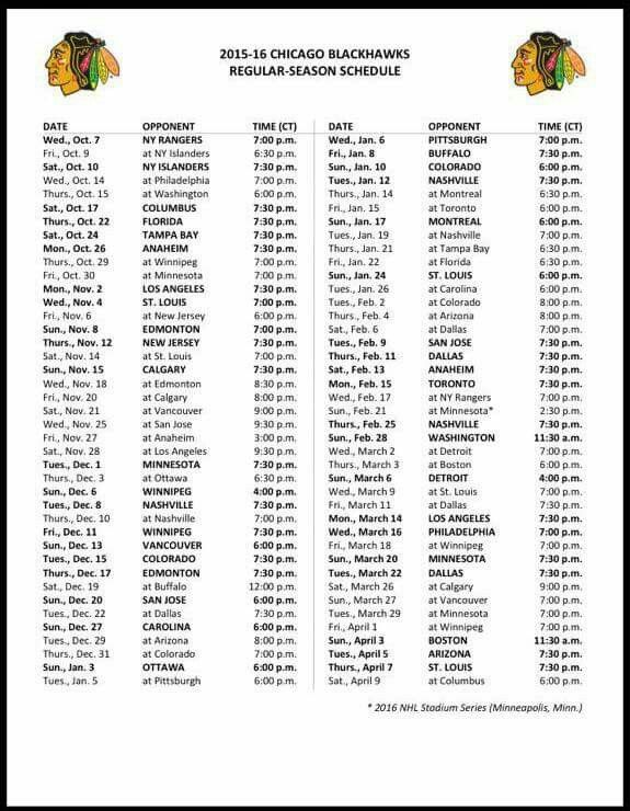 picture regarding Blackhawks Schedule Printable named nhl blackhawks timetable