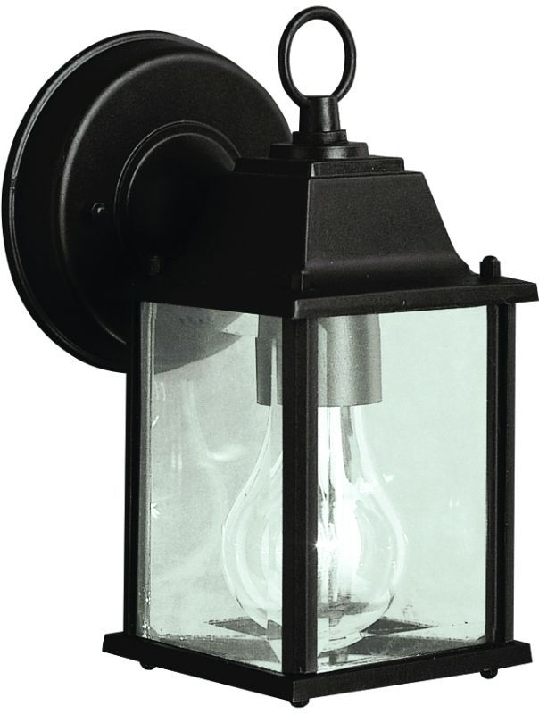 Kichler 9794 barrie collection 1 light 9 outdoor wall light black outdoor lighting wall sconces