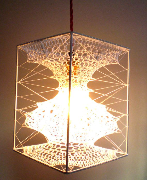 Seed Lampshade by abigaildace on Etsy, £95.00((crochet-lampshades))