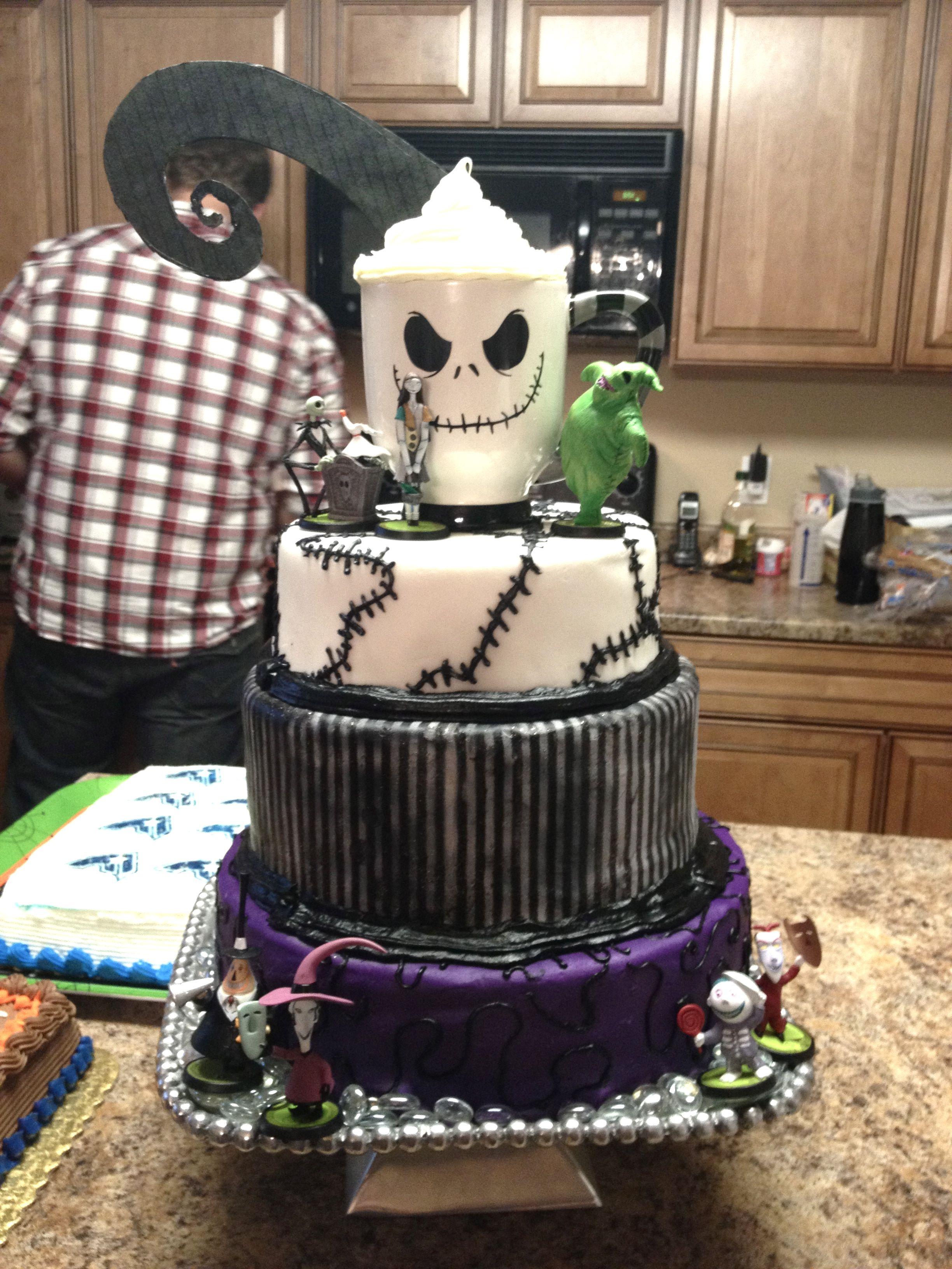 Nightmare Before Christmas Birthday Cake We Made For My Nephews