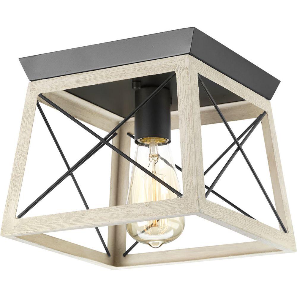Delon 1 light lantern geometric pendant flush mount