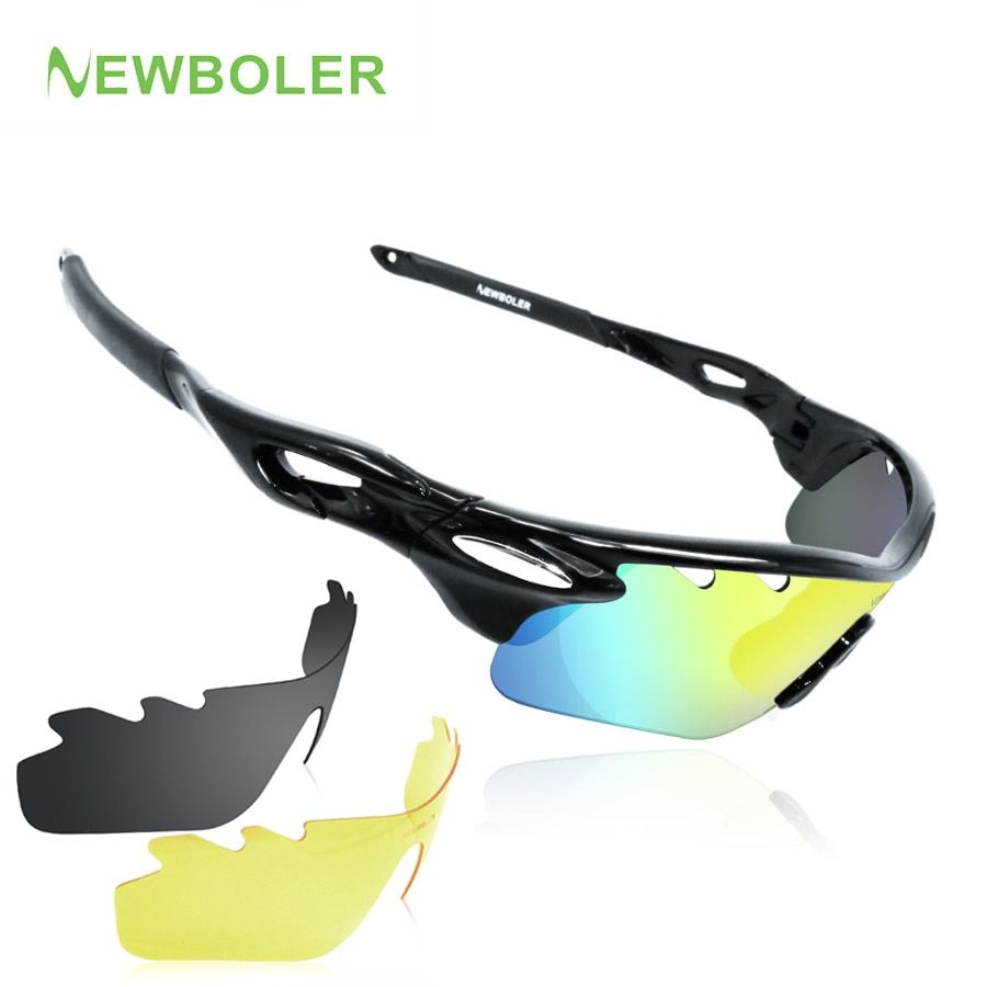 a68000a18278 NEWBOLER Professional Myopia Polarized Fishing Glasses Men Women Climbing Eyewear  Hiking Sunglasses Outdoor Sport Goggles 3 Lens FREE Shipping #bass