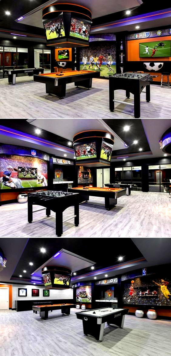 Design Your Room Game: 25 Ideal Game Room Ideas #family #forteens #mancaves