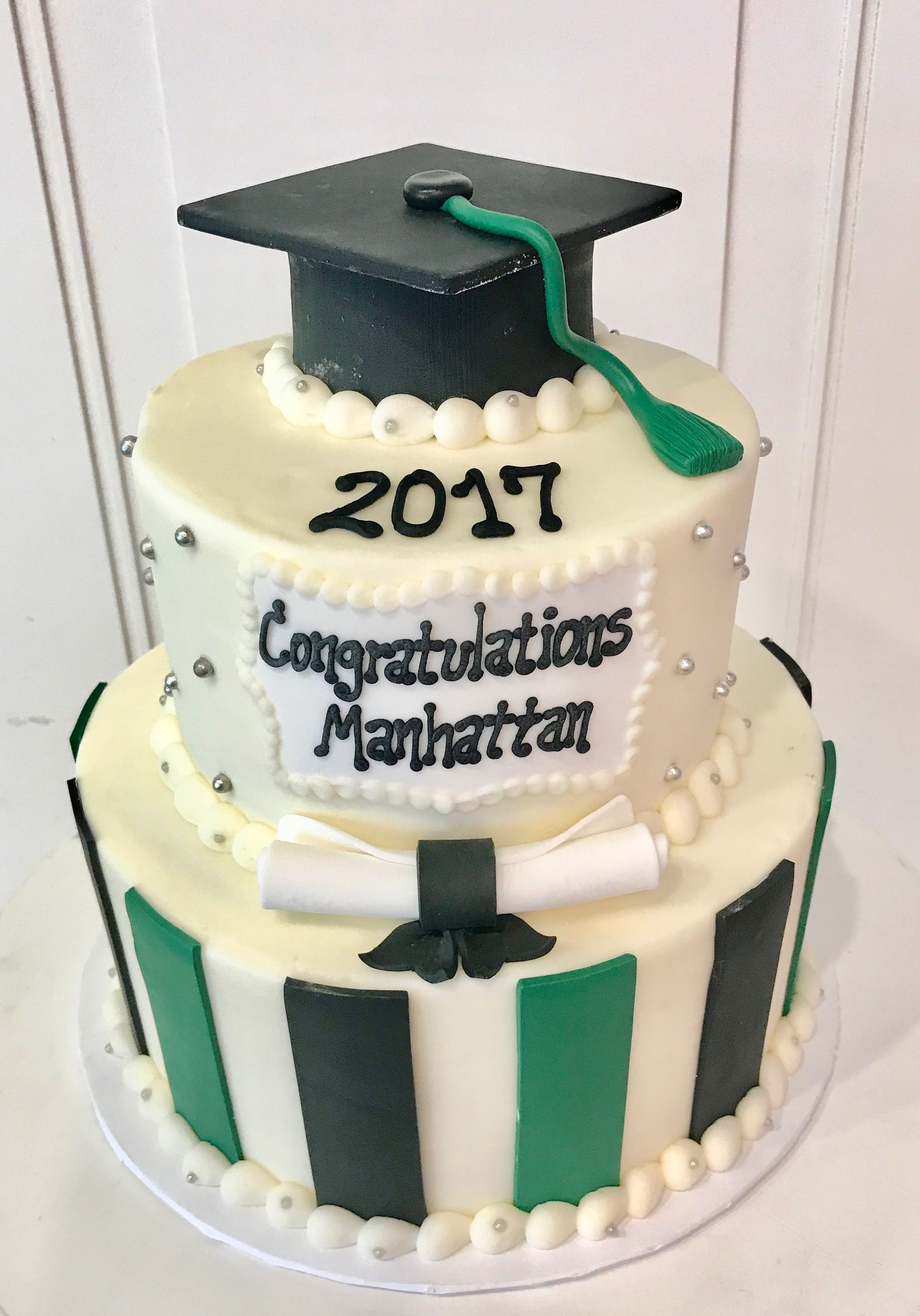 Graduation Cake 3 Tier Vanilla And Chocolate With Buttercream