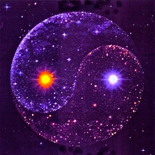 Cosmic Yin Yang Yin Yang Art Yin Yang Ying Yang