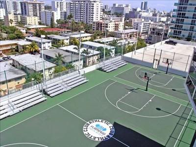 View Of Basketball Courts At The Flamingo South Beach