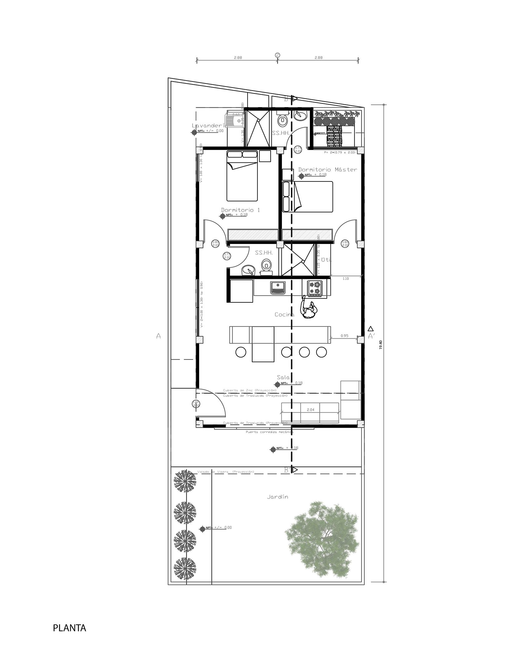 Gallery Of House For Someone Like Me Natura Futura Arquitectura 20 Social Housing How To Plan Social Housing Architecture
