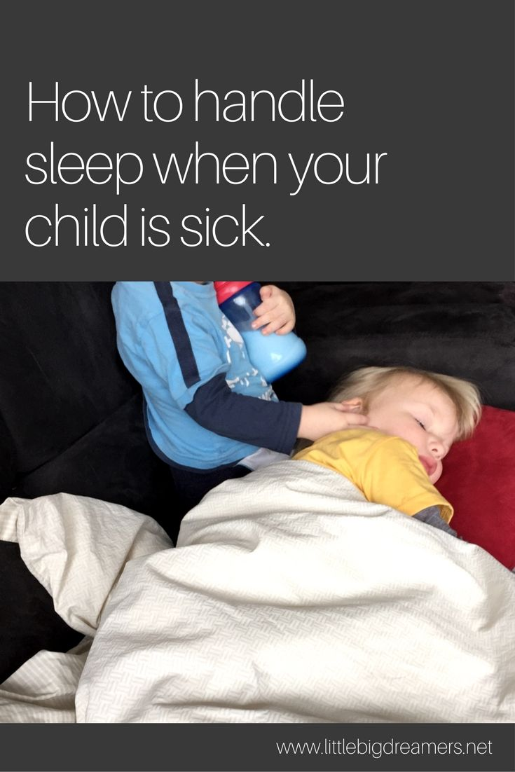 How to handle sleep when your child is sick with images
