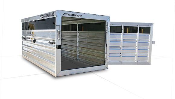 8191 Livestock Truck Box Featherlite Stock Trailers