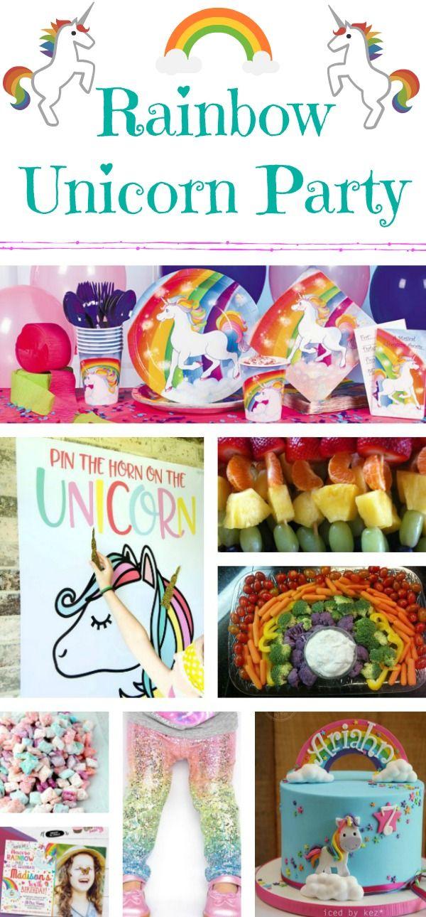 Planning A Rainbow Unicorn Birthday Party | Sadie's | Pinterest