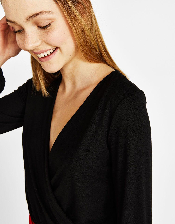 T-shirt croisé   knit SS 2019   Pinterest   Ss 21b501f23123
