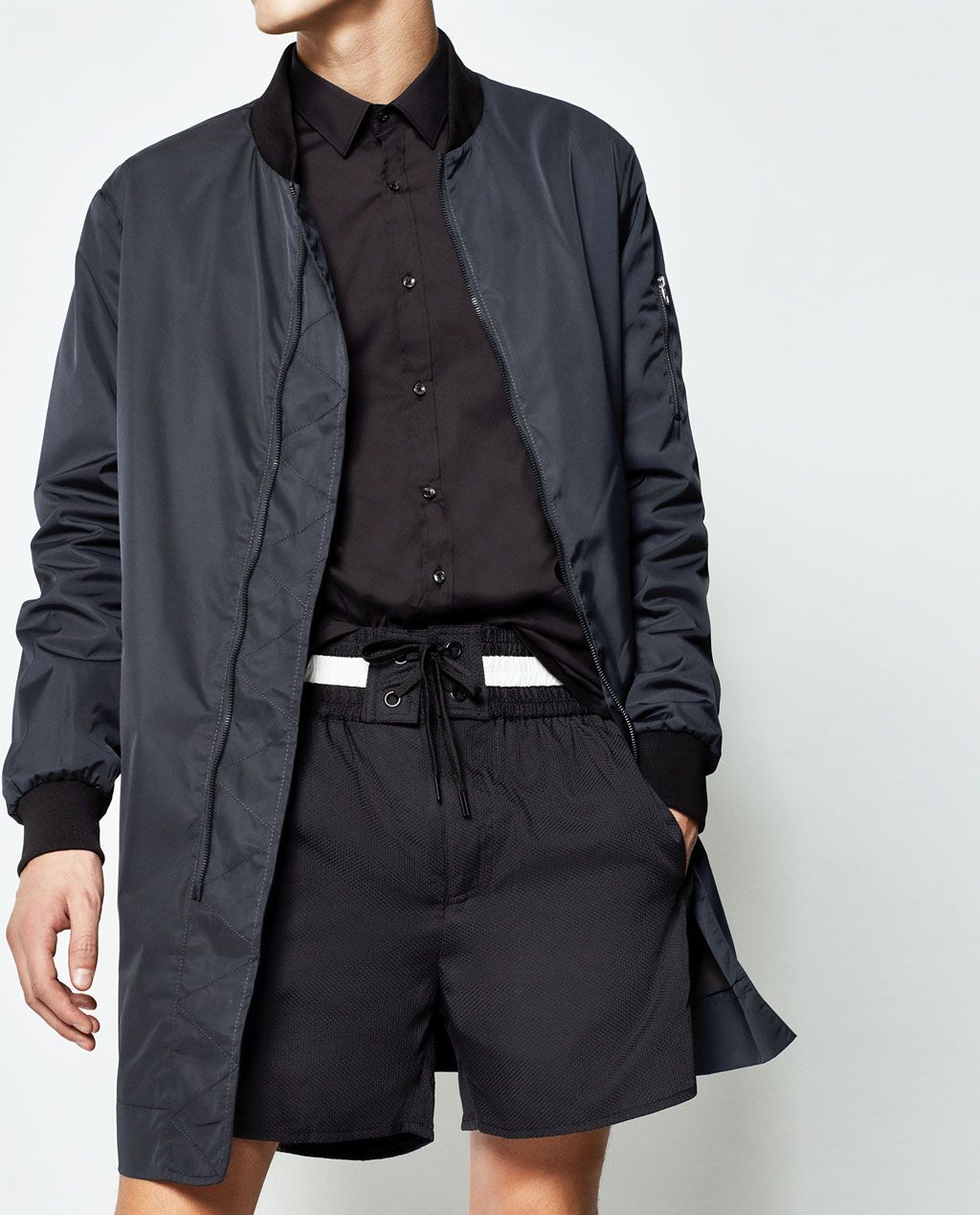 LONG BOMBER JACKET from Zara Long bomber jacket, Bomber