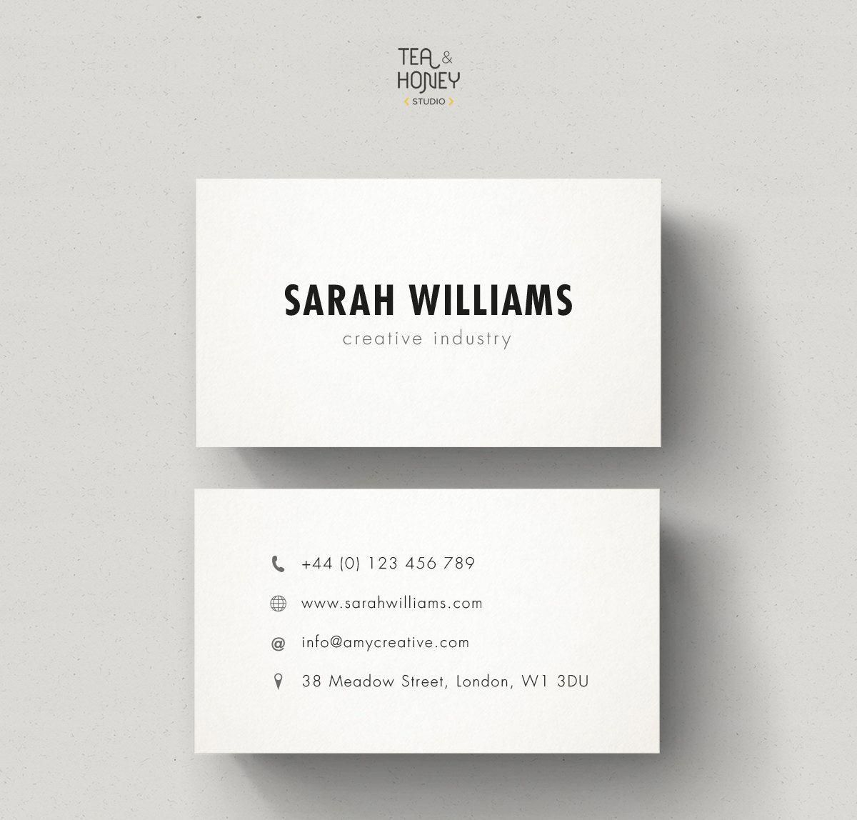 minimalistic business cards calling card by teaandhoneystudio batteryreconditioningbusinessforsale - Where To Buy Calling Cards