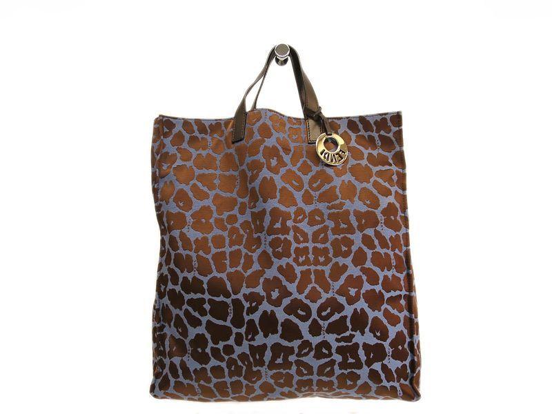 15ab2945f99  FENDI Hand bag Leather Canvas Brown Blue 8BH173 (BF089504).