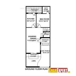 House Plan For 20 Feet By 50 Feet Plot (Plot Size 111 Square Yards)