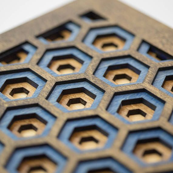 Wall Art - 3D Hexagon Laser Cut