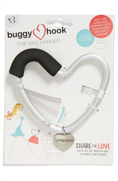 buggyguard Buggygear 'Buggy Heart Hook' Stroller Bag Hanger available at #Nordstrom
