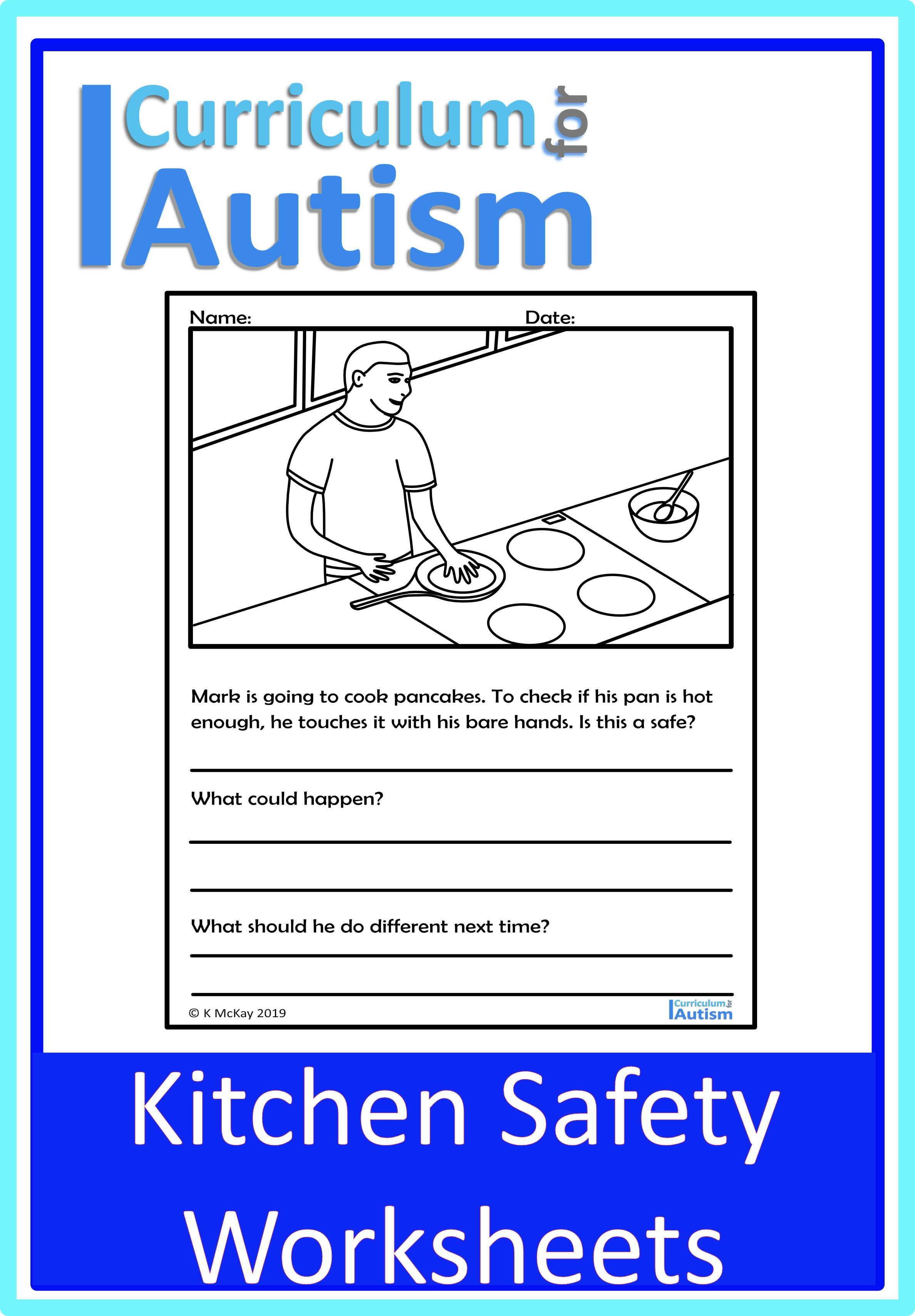 Kitchen Cooking Safety Worksheets