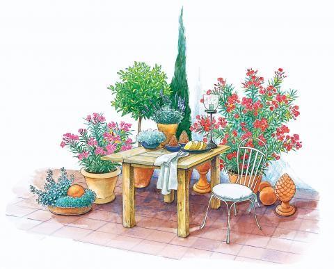 Terrasse Und Sitzplatz Mediterran Gestalten   So Gehts!