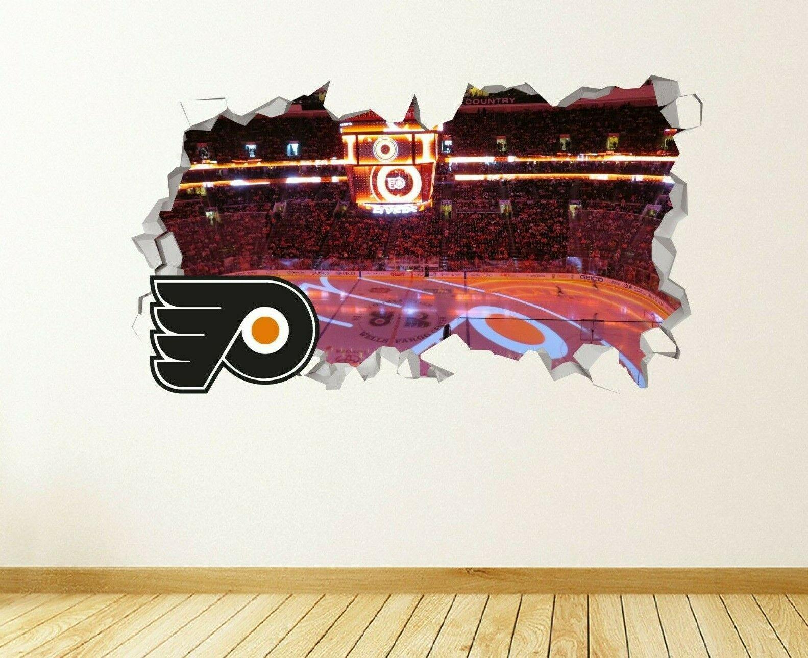 Details About Philadelphia Flyers Wall Decal Smashed Nhl Sport 3d Art Sticker Vinyl Js1689 In 2020 Sticker Art 3d Art Family Tree Wall Sticker