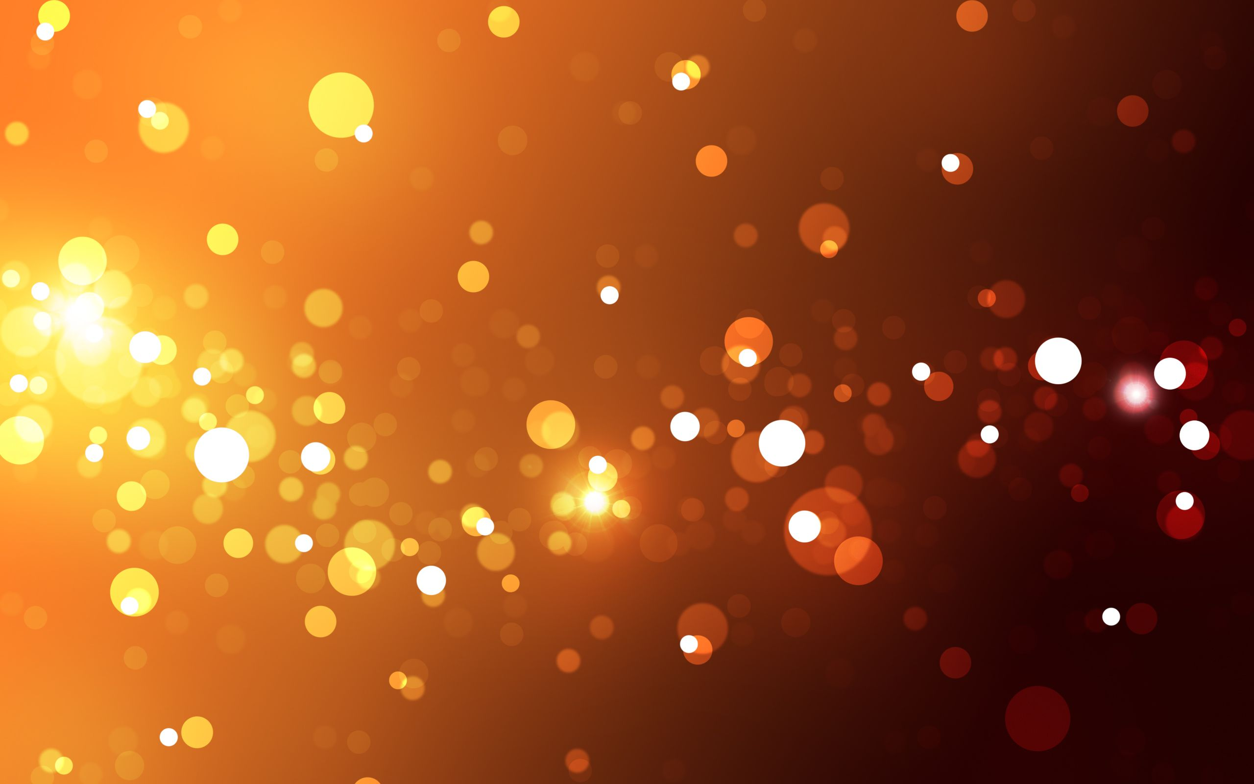 abstract lights orange / 2560x1600 Wallpaper Orange