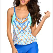 OMG!! This is amazing!!    Fashion Geometry Underwire Tankini Top //Price: $49.99 & FREE Shipping //     #swimwear#travel