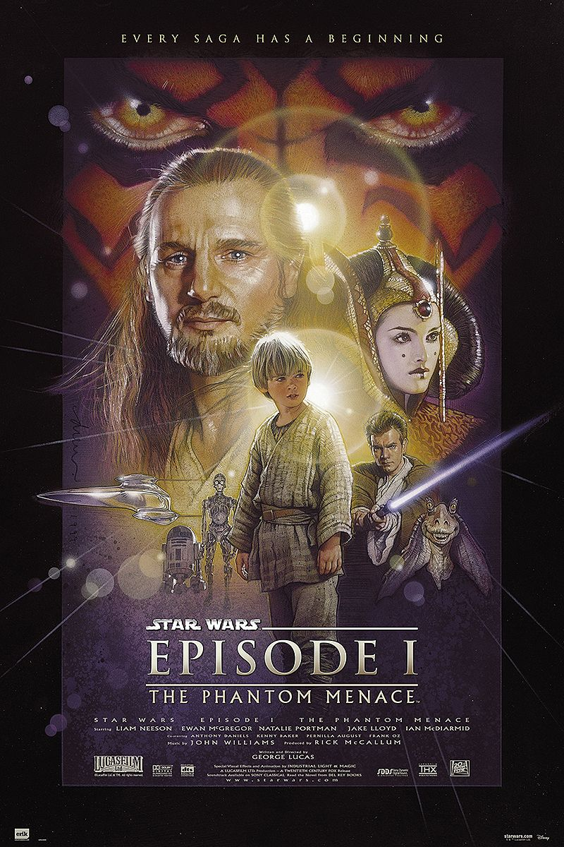 Star Wars Poster Episode 1 The Phantom Menace