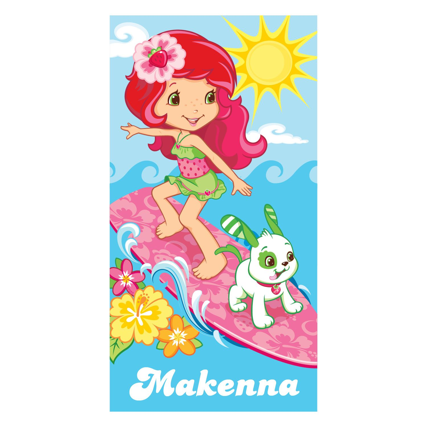Personalized Beach Towel Strawberry Shortcake Beach Towel