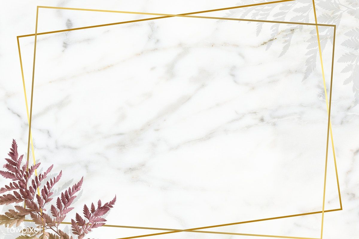 Download Premium Psd Of Rectangle Golden Frame On A Marble Background Marble Background Powerpoint Background Design Flower Background Wallpaper