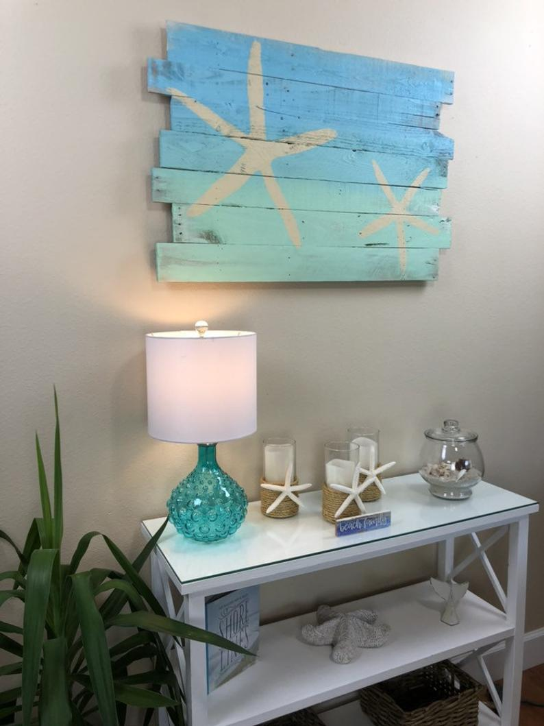 Photo of Beach Decor Starfish on Blue Sky Over Turquoise Sea Tropical   Etsy