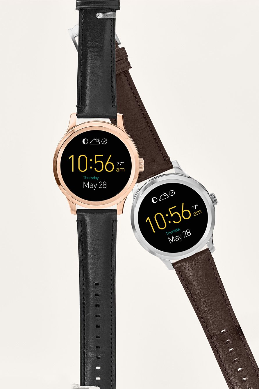 Q Founder Digital Display Black Leather Touchscreen Smartwatch Smartwatch Features Smart Watch Wearable