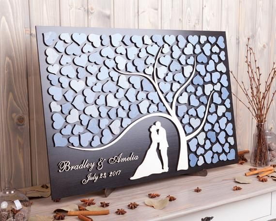 Personalized wedding guest book alternative 3D Wood wedding guestbook sign Bride and Groom Custom we