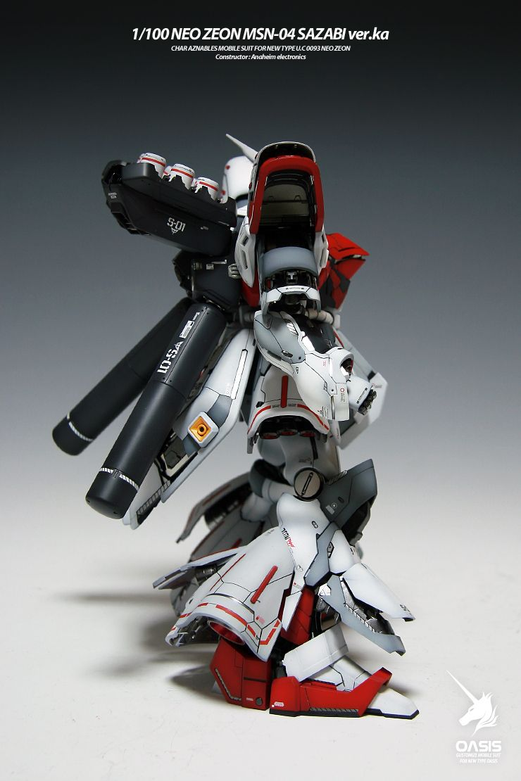 MG 1/100 Sazabi Ver. Ka - Painted Build     Modeled by  gonzo2000