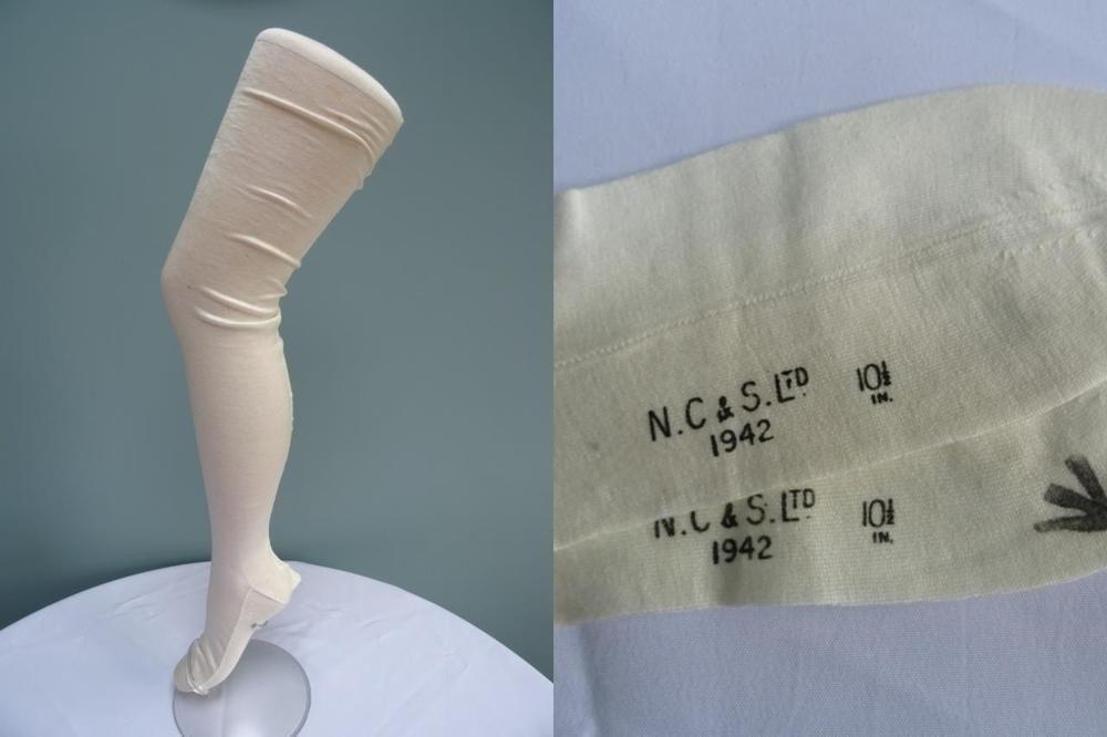 22bf9c67169 Vintage 1940s WW2 Era Military Nurse Ladies Seamed Stockings White Cotton  Unworn  Unbranded  Stockings  Military