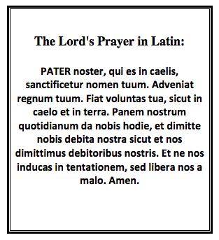 Latin prayer for the sick
