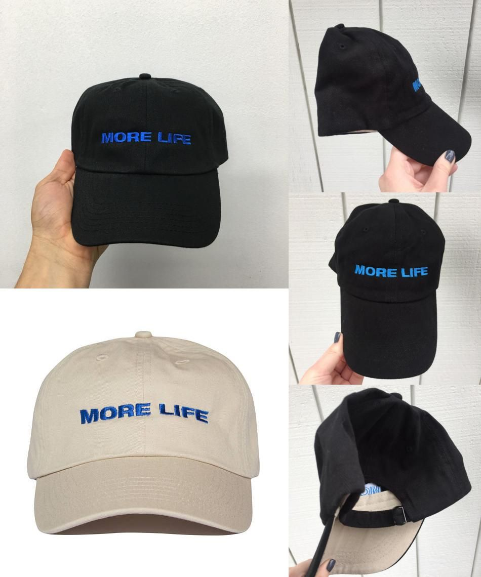 cbb5d05997ec [Visit to Buy] Aubrey Drake Graham Latest Album MORE LIFE Hat Exclusive  Release Women and Men Dad Hat Quality Embroidery Baseball Cap Blue Font #  ...