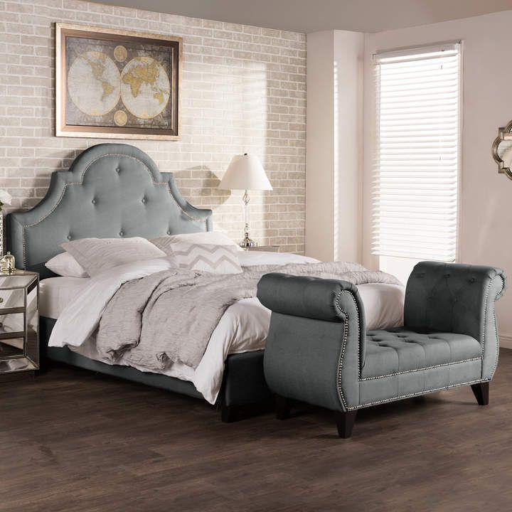 Stupendous Baxton Studio Colchester Modern Platform Bed Bench Set Pdpeps Interior Chair Design Pdpepsorg