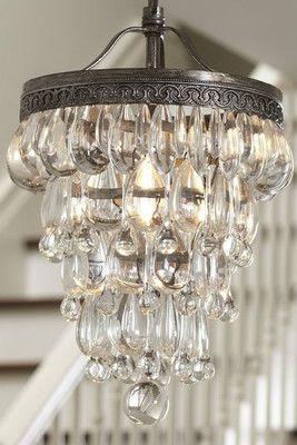 Clarissa Glass Drop Round Chandelier | Small chandelier